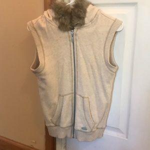 Beige Hooded Vest